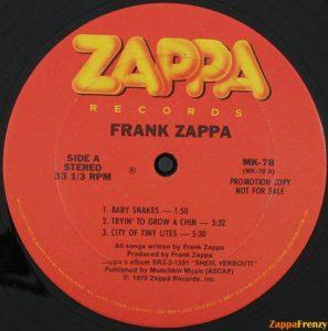 zappa REcord